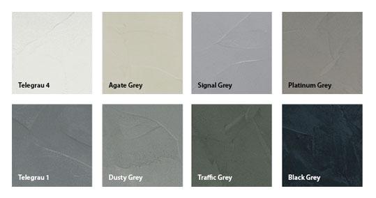 Verschillende kleuren betonvloeren
