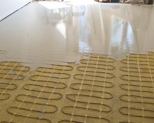 Aanleg van vloerverwarming